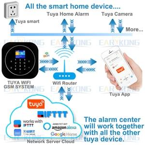 Image 5 - Tuya APP Smart WiFi GSM Home Security GSM Alarm System 433MHz Detectors Alarm Compatible With Alexa Google Home IFTTT Tuya APP