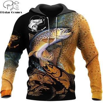 Fishing Love Brown Trout hoodie unisex