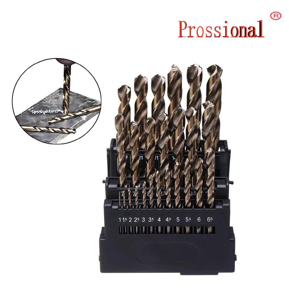 25 /19/13 PCS M42 HSS Twist Drill Bit Set 3 Edge Head 8% High Cobalt Drill Bit For Stainless Steel Wood Metal Drilling