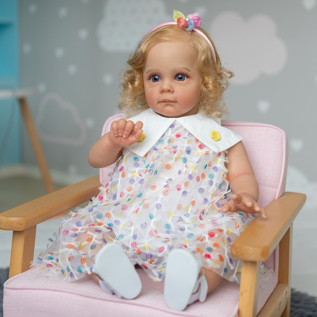 Handmade Reborn Toddler Maggie Lifelike Hand-rooted Hair Collectible Art Doll 2