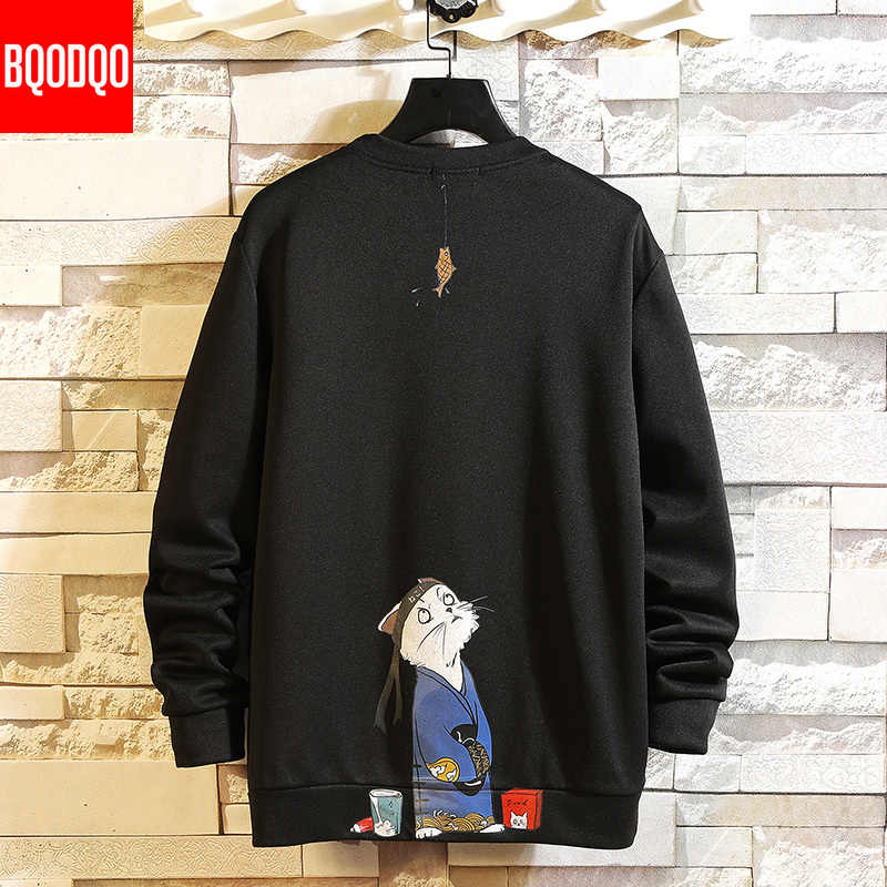 Herbst Lustige Sweatshirts Anime Druck Hoodies Männer Casual Sweatshirt Japanischen Hip Hop Streetwear Herren Weiß Mode Pullover 5XL