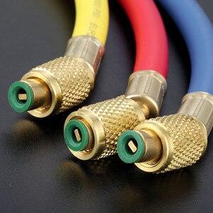 "Image 3 - 3Pcs 60"" HVAC 1/4"" SAE R410a R134a AC Refrigeration Permutation Charging Hoses HVAC 800PSI Air Conditioning Hose Mayitr 150cm"