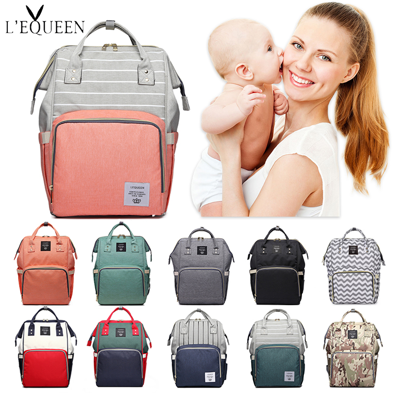 Lequeen Mommy Diaper Bag Baby Mummy Carriage Backpack Mother Changing Bag Maternity Bag Care Stroller Nappy Bag Nursing Bag