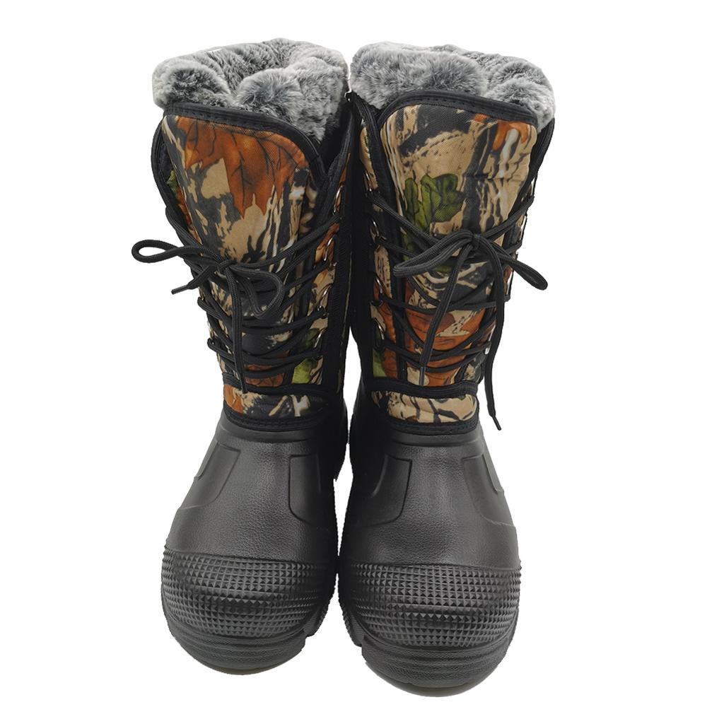 Женские зимние ботинки теплая обувь из толстой шерсти с хлопком размера плюс женская модная повседневная обувь зимние 41 46
