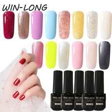 Win long 7 мл Лак для ногтей чистый цвет искусственный Гель