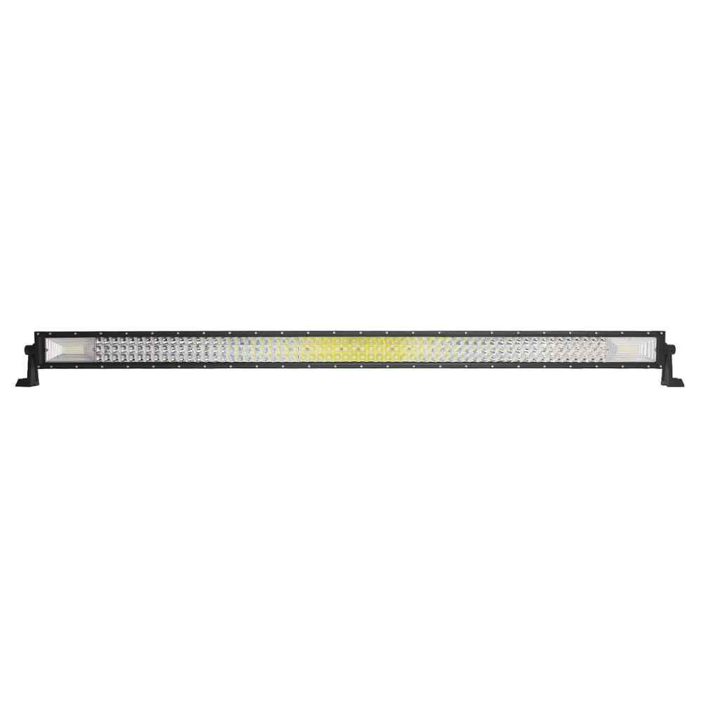 ECAHAYAKU 50 Inch Curved Straight Led Light Bar 702W with Luggage Rack Brackets for SUV Jeep Hummer Land Cruiser Rubicon UTE 4x4