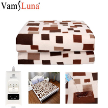 180x150 Electric Heating Blanket Thermostat Waterproof Blanket Double Body Warmer Winter Bed Mattress Electric Heated Carpet square multifunctional plush heated electric blanket pet heating pad safety thermostat warm carpet heating office chair cushion