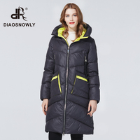 Diaosnowly 2020 fashion women winter jacket long female high quality jacket for women winter clothes brand parka and coat plus size