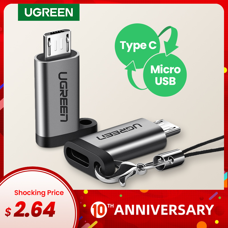 Ugreen USB Type-C Adapter Type C To Micro USB Female To Male Converters For Xiaomi Samsung Charger Data Cable USBC USB C Adapter