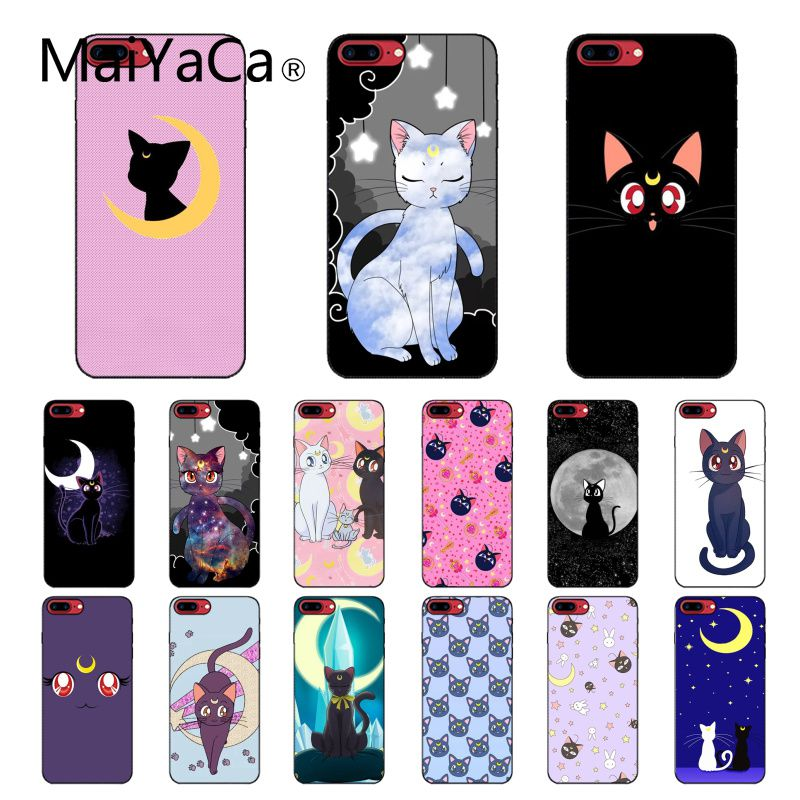 MaiYaCa sailor moon cat Phone Accessories Case for iPhone 11 Pro XS MAX XS XR 8 7 6 Plus 5 5S SE