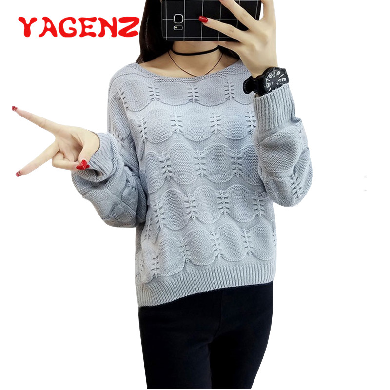 YAGENZ Sweater Women Pullovers Jumper O-Neck Knitted Winter 7-Colors 478 Tops Female