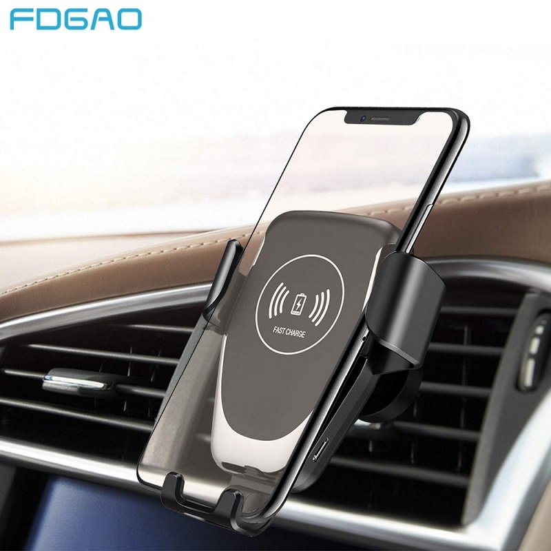 Qi Car Wireless Charger Receiver For IPhone 11 Pro XS Max X XR 8 Fast Wireless Charging Car Phone Holder For Samsung Note 10 S10
