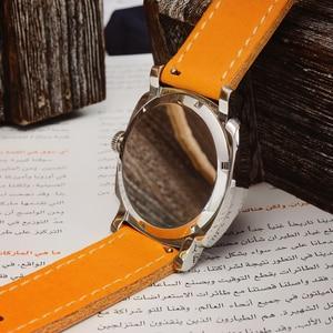 Image 5 - San Martin Uhr Vintage Edelstahl Automatische Männer Uhren Wasserdicht 200m Lederband Licht wasserdicht Mineral Blase