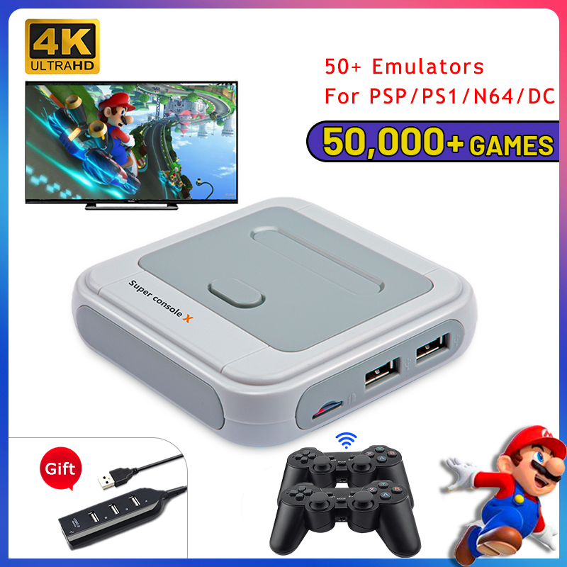 Super-Console TV 50000-Games Video-Game Wirelless-Controllers Retro Wifi X with for NDS/PS