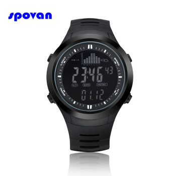 Relogio Masculino SPOVAN Digital Sport Watch Mens Waterproof Barometer Altimeter Thermometer Stopwatch Wristwatch Clock Men Saat sunroad fishing barometer watch fr720a men altimeter thermometer weather forecast 50m waterproof stopwatch smart watch black