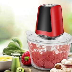 Image 2 - 2L Electric Chopper Powerful Meat Grinder Multifunctional Household Food Processor Meat Kitchen Blender Us Plug