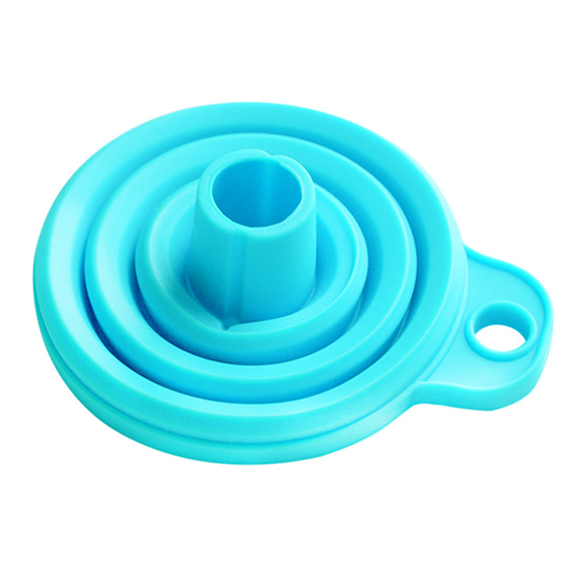 Kitchen Silicone Cooking Gadget Funnel Blue