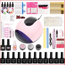 Ensemble de manucure x5 UV lampe à LED et 20000 tr/min Machine à ongles avec Kit de vernis à ongles Gel(China)