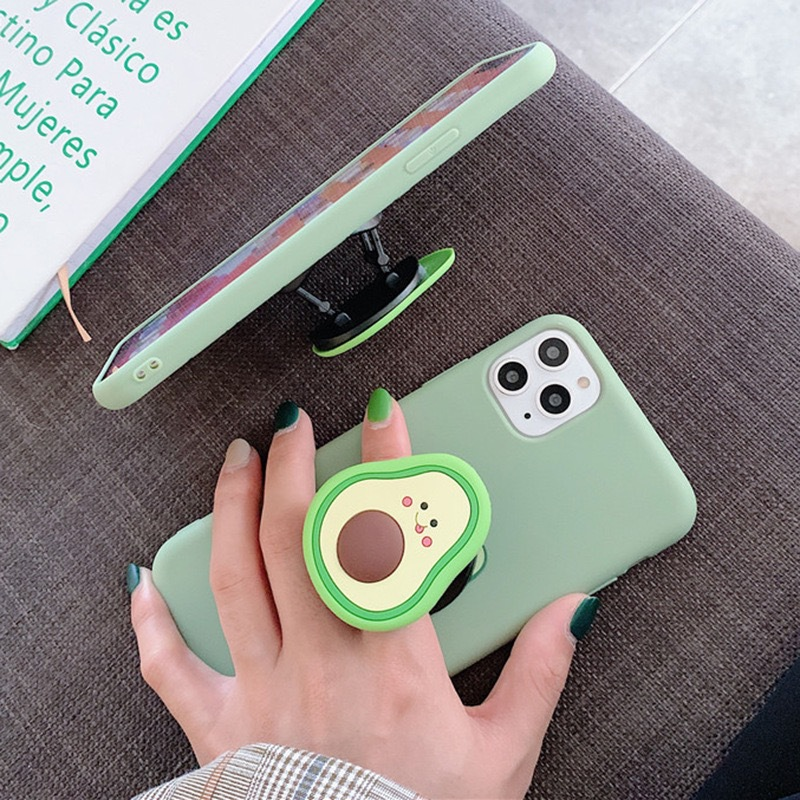 Cute Fruit Avocado Stand Holder Case for Oneplus 9 Z 8 Nord 7T Pro 6 6T One Plus 5 5T 3 3T Bracket Phone Cover