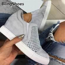 أحذية نسائية جديدة موضة 2020 أحذية رياضية نسائية بفتحات تهوية أحذية مبركن أحذية نسائية غير رسمية ذات نعل عريض عريض داخلي