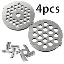 2 шлифовальные плиты+ 2 режущие лезвия, запчасти для мясорубки для MG30/60, диаметр 53 мм, кухонные аксессуары