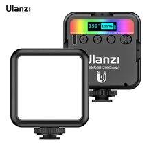 Ulanzi vl49 rgb bolso led luz de vídeo fotografia luz de preenchimento 2500k-9000k pode ser escurecido cri95 + para selfie viver streaming vlogging
