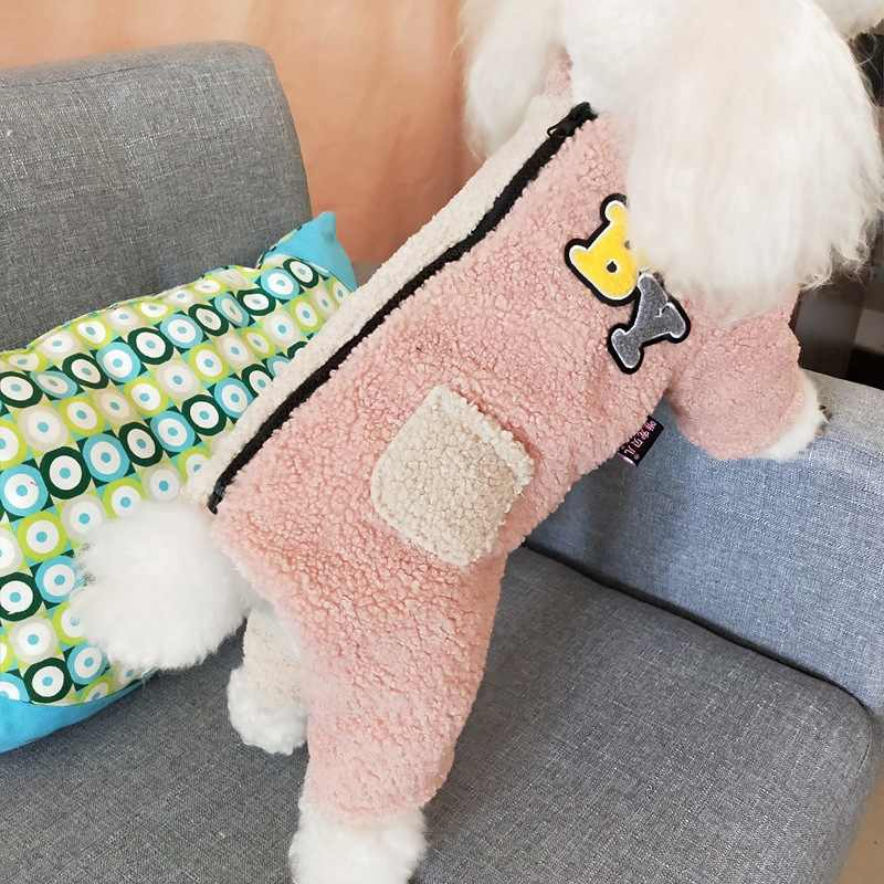 Pet Dog Fleece jumpsuit Thickening Dog Clothes Puppy Cat Dog Coat Winter Pet Clothing Jumpsuits Outfit Chihuahua S,M,L,XL,XXL