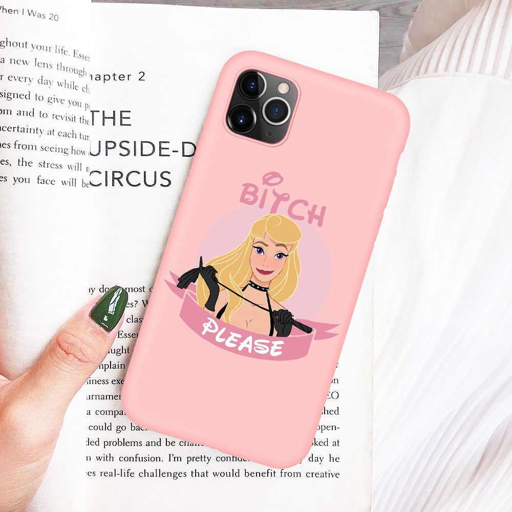 Kaltak lütfen kar beyaz prenses denizkızı telefon iphone için kılıf XR X XS 11 Pro Max 8 8 artı 7 7 artı 6 6S 5S SE yumuşak silikon kapak