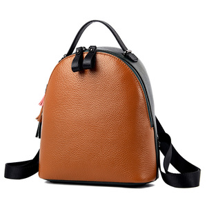Image 5 - 2020 New Genuine Leather Women Backpack Shoulder Bag Female Small Tassel Backpacks Fashion Casual Travel Bag First Layer Leather