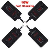 Ricevitore caricabatterie Wireless veloce type-c 10W Qi per bobina Pad caricabatterie per Xiaomi Samsung Huawei iPhone 6 7 Plus ricevitore Wireless