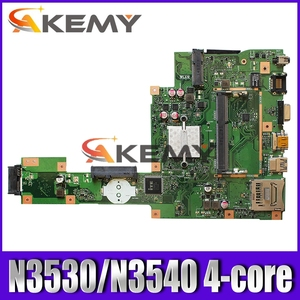NEW Akemy X553MA Laptop motherboard For Asus X553MA X553M A553MA D553M F553MA K553M Test original mainboard N3530/N3540 4-Core(China)
