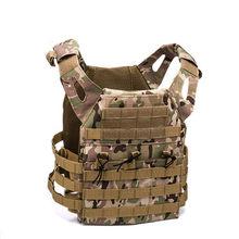Chaleco táctico de caza militar, porta placa Molle, Airsoft, Paintball CS, protector para exteriores, ligero, 600D