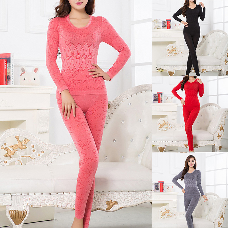 Women Thermal Underwear Set For Winter Female Keep Warm 4 Colors Thermal Clothing Cotton Thermal Shirt Women