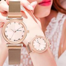 Luxury Magnet Watches Charm Diamond Fashion Brand Women Watch 2020 Quality Ladies Wristwatches Female Quartz Clock Montre Femme guanqin gq15001 dressport brand luxury quartz ladies watches leather women watches fashion female wristwatches montre femme
