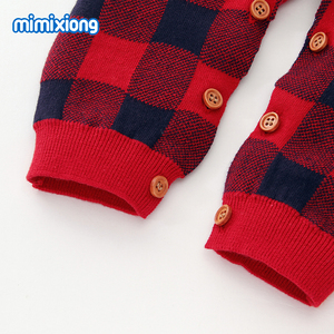 Image 5 - Baby Rompers Christmas Newborn Boys Pajamas Jumpsuits Autumn Long Sleeve Infant Kids Girls Overalls Winter Children Knit Clothes