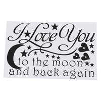 LOVE Quotes Wall Decor Wall Art I LOVE YOU To The Moon And Back Wall Sayings Quotes Easy Apply Wall Sticker Wall Art for
