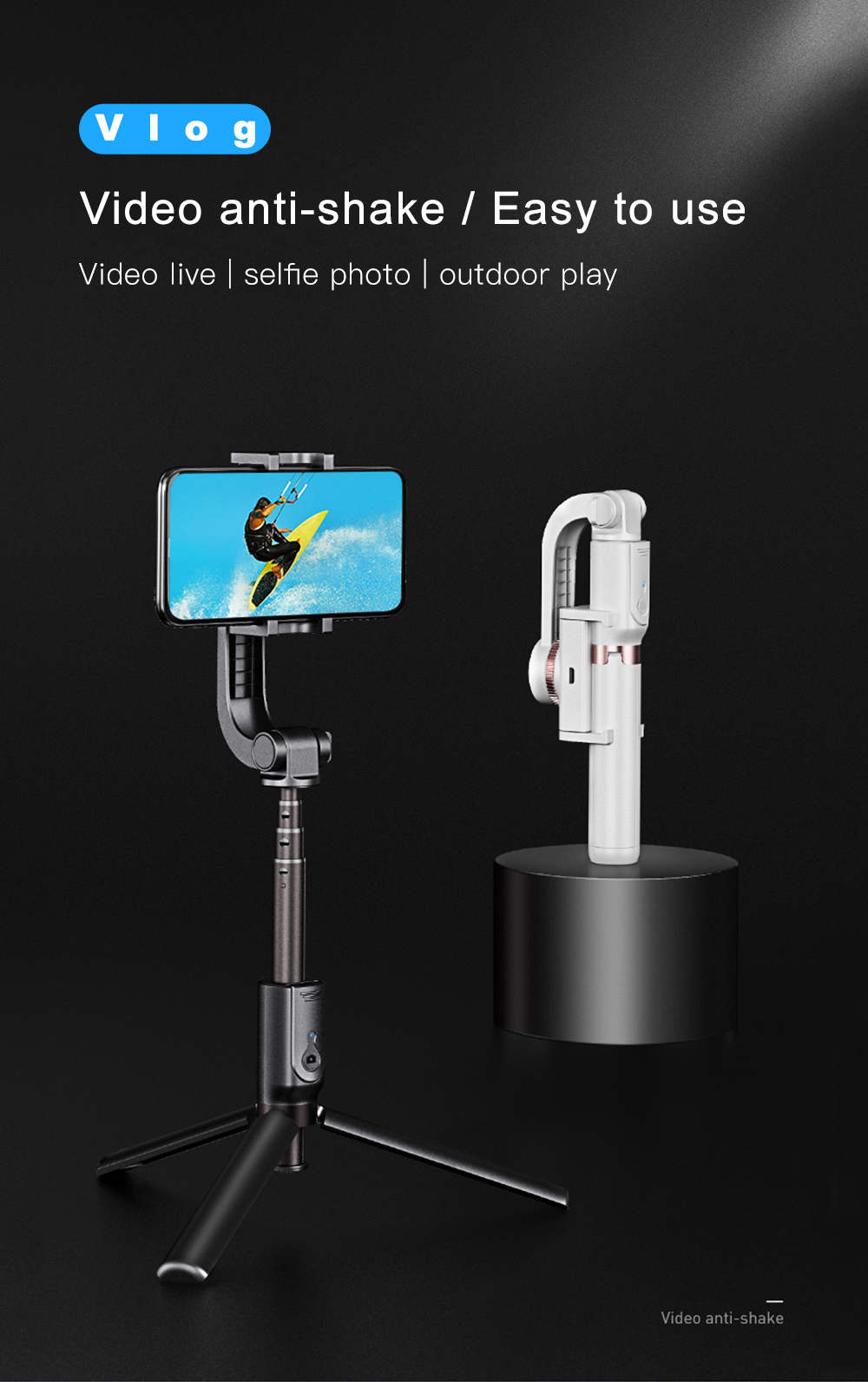 Bonola 3 in1 Handheld Gimbal Stabilizer Smartphone Selfie Stick Tripod For iOSAndroid Video Stabilizer For iPhone11ProSamsung (1)