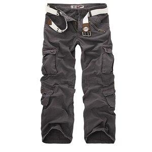 Image 4 - Dropshipping Cotone Cargo Pantaloni Da Uomo in Stile Militare Tattico Allenamento Pantaloni Dritti Casual Camouflage Pantaloni Uomo
