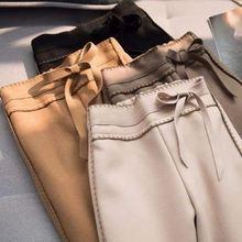 Женские повседневные шерстяные брюки женские длиной до лодыжки