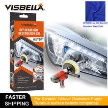 VISBELLA Kit de pasta de pulido para faros delanteros, herramienta manual de reparación para el cuidado del coche, con paño