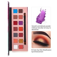 Glitter Eyeshadow Makeup Pallete 14 Colors Matte Eye shadow Palette Shimmer Diamond Eyeshadow Powder Pigment Cosmetics