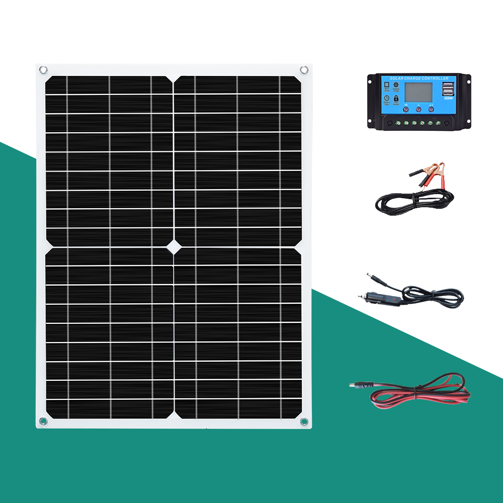 BOGUANG 18V 25W 50w <font><b>solar</b></font> <font><b>panel</b></font> complete Daily power supply <font><b>100w</b></font> / H Photovoltaic <font><b>panels</b></font> kit for 5v USB device <font><b>12V</b></font> battery image