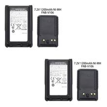 2X FNB-V106 NI-MH Battery 1200mAh for Yaesu Vertex Standard VX-231 VX-230 VX228 2pcs yaesu fnb 80li lithium ion battery for yaesu vx7r vx 5 vx 5r vx 5r vx 6r vx 6e vx 7r vxa 700 vxa 7 radio 1500mah