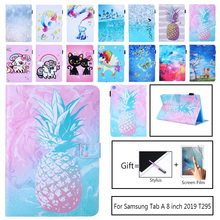 For Coque Samsung Galaxy Tab A 8.0 2019 T290 T295 Tablet Case Flip PU Leather Cover For Samsung TAB A 8