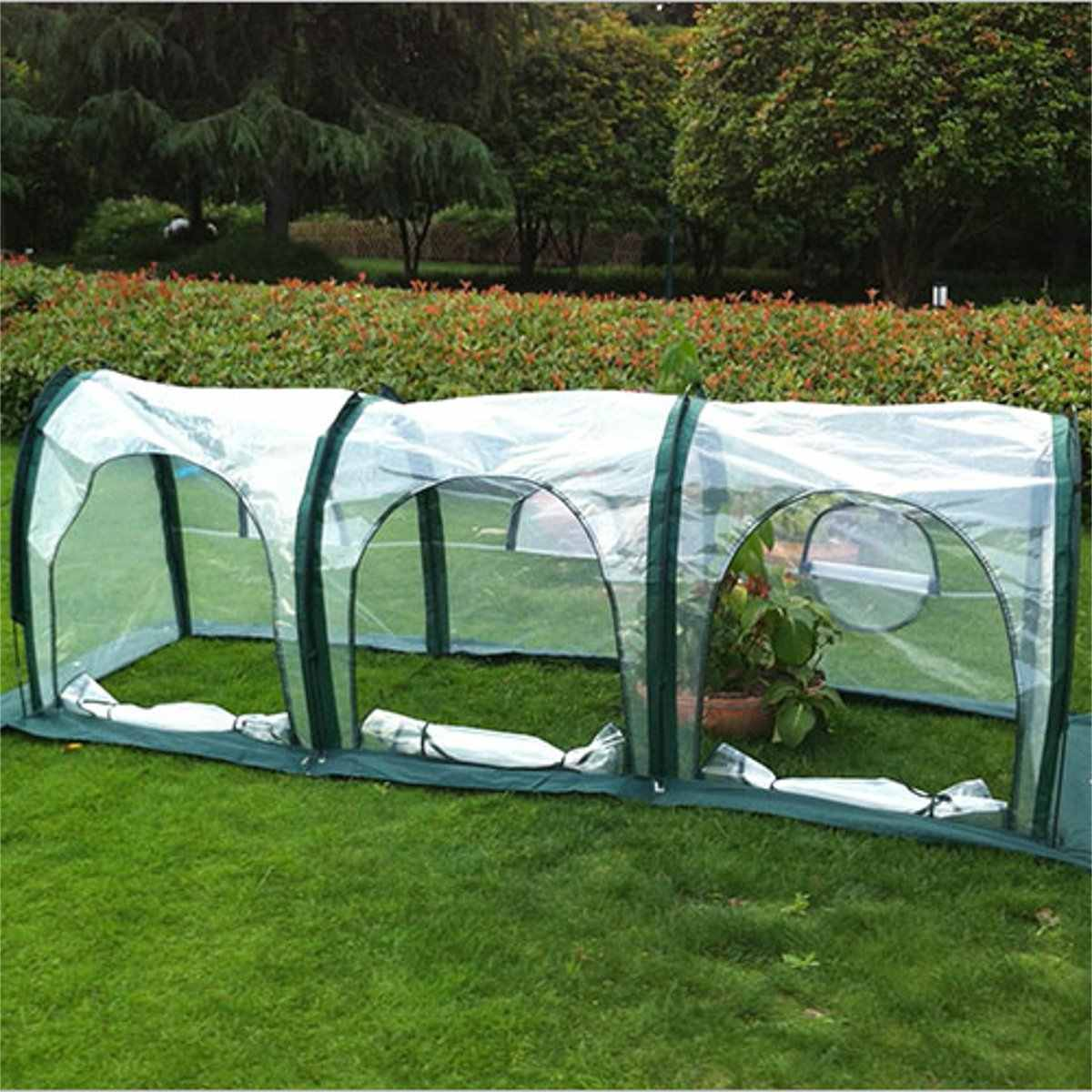 300x100x100cm Mini Greenhouse Home Outdoor Flower Plant Gardening Winter Shelter Waterproof Anti-UV Tunnel Vegetables Greenhouse