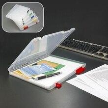 Storage-Box File Document-Paper Office-Organizer Filling-Case Clear A4 Transparent Plastic