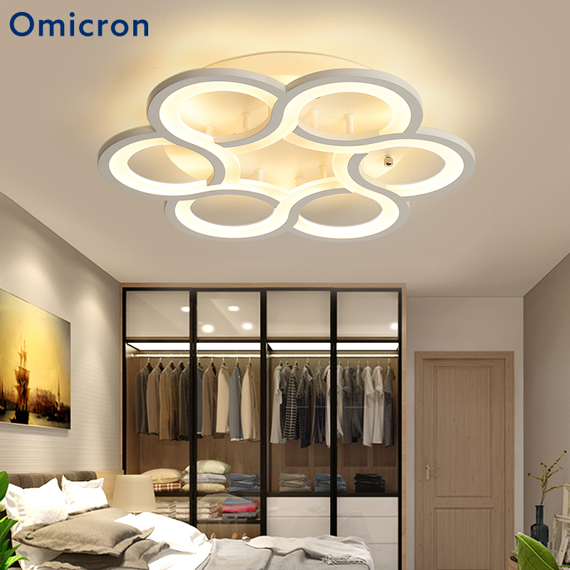 Omicron LED Chandeliers Circle Flowers Luminaires For Living Room Bedroom Dining Room Home Lighting Fixtures