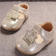 Summer Newborn Infant Baby Girls Non-slip Crib Shoes Moccasins Leather Prewalkers First Walk Soft Soled Princess Crown Shoes#g4