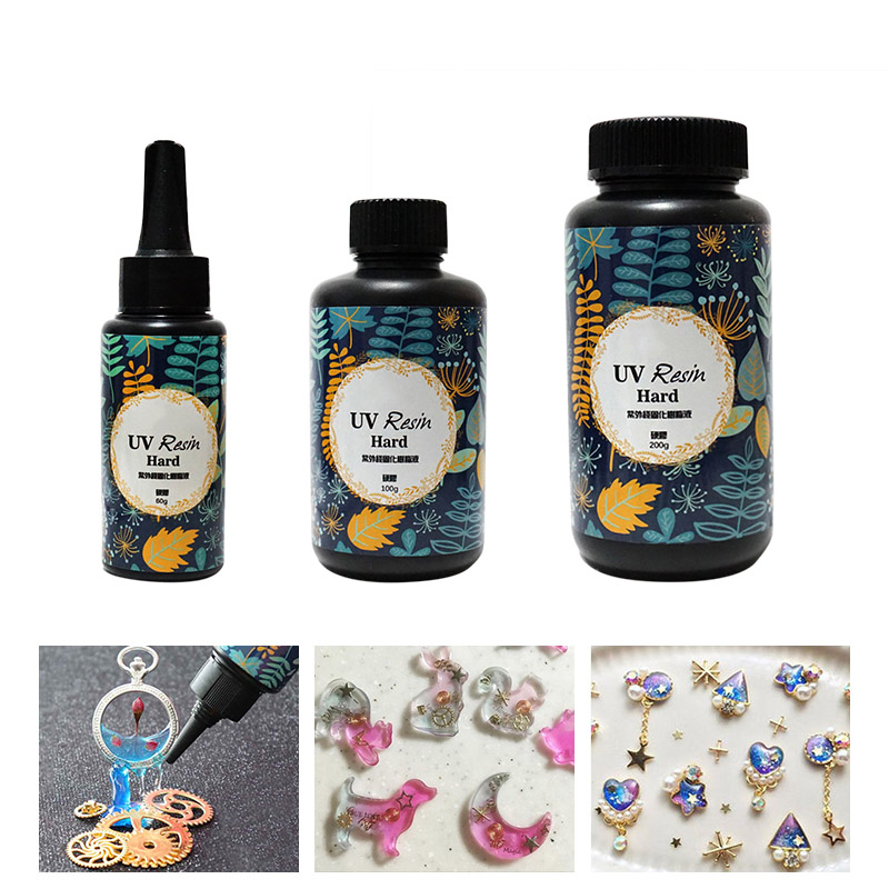 Home DIY Jewelry Making Crafts 10/15/25/60/100/200g Transparent Ultraviolet UV Resin Gel Quick-drying Non-toxic Sunlight Curing