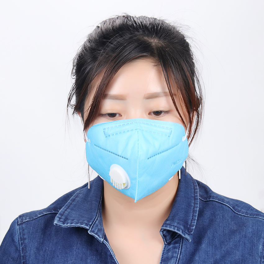 1PC Nonwoven PM2.5 Anti Haze Mask Breath Valve Anti-Dust Mouth Mask Activated Carbon Filter Respirator Fashion Mouth-Muffle